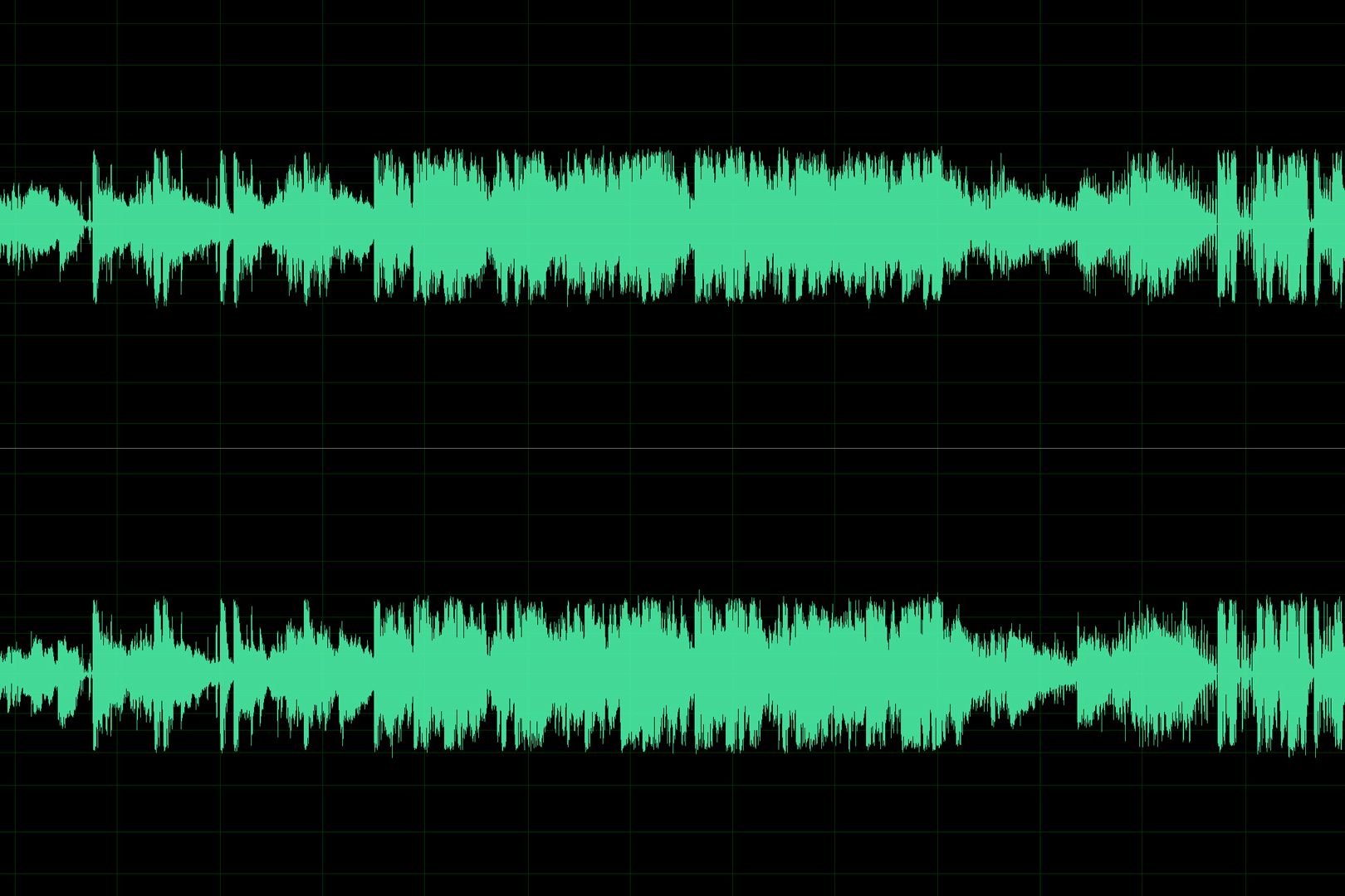 Stereo Audio Spectrum from Adobe Audition