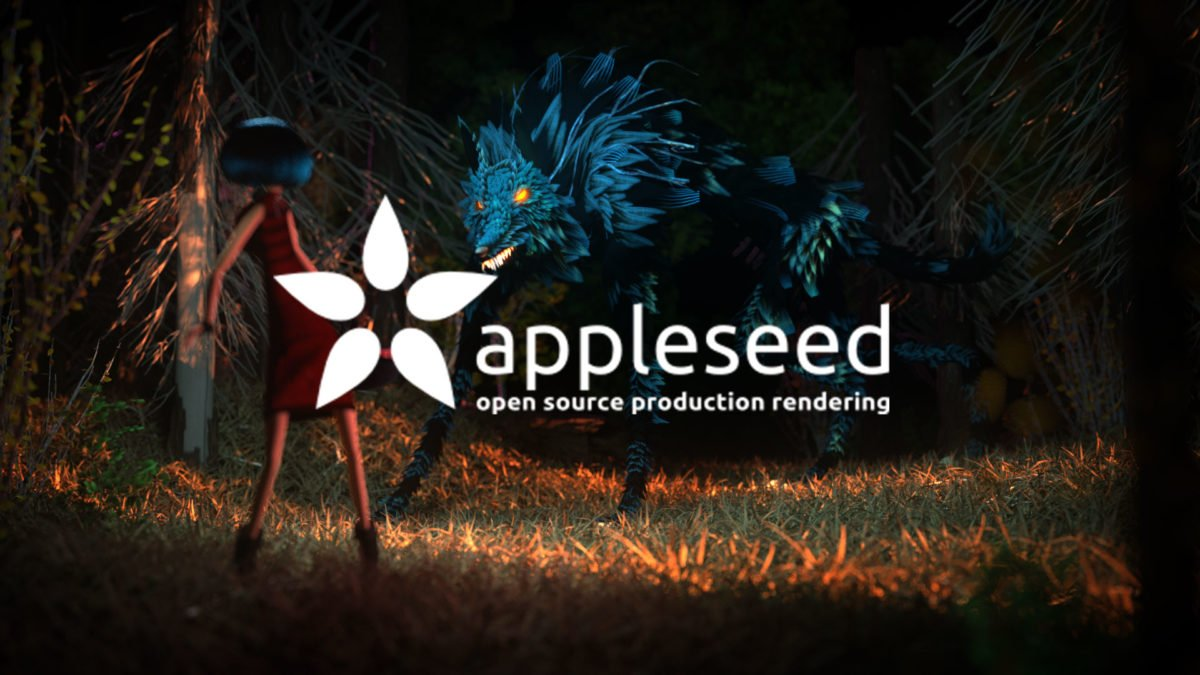 rendered with logo of appleseed